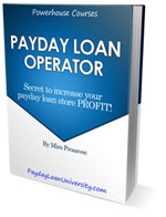 Advanced Payday loan business course